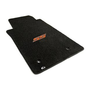 2010-2015 Camaro SS Floor Mats 2 Pc. Set (Orange Logo)