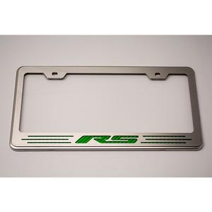 Camaro Tag/License Frame : Chrome, Stainless Steel & Carbon Fiber RS Lettering