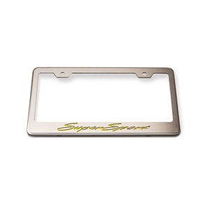 Camaro Tag/License Frame : Chrome, Stainless Steel & Carbon Fiber Super Sport Script