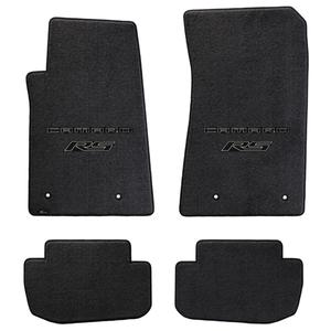 2010-2011 Camaro RS Floor Mats 4 Pc. Set (Black Lettering & RS Logo)