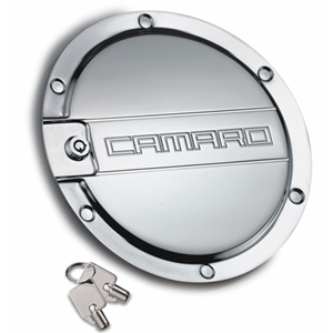 2010-2015 Camaro Locking Fuel Door - Chrome