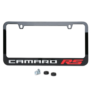 Camaro RS License Frame : Black