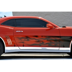 2010-2013 Camaro Rocker Panel Deluxe Kit Polished 6Pc
