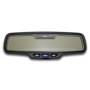"Camaro ""SUPERCHARGED"" - Rectangle Rear View Mirror Trim"