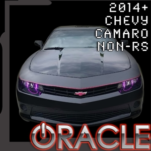Camaro Halo Headlight Kit Round : Single Color for 2014-2015