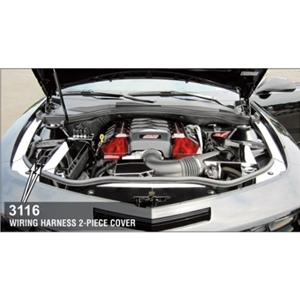 Camaro Wiring Harness Cover - Polished Stainless Steel 2 Pc.