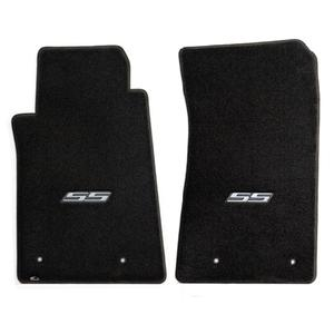 2010-2015 Camaro SS Floor Mats 2 Pc. Set (Silver Logo)