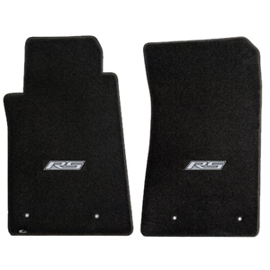 2010-2015 Camaro RS Floor Mats 2 Pc. Set (Silver Logo)