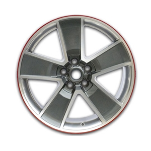 "2010-2014 Camaro 20"" Red-Line Wheels - Gray with Machined Face, Chrome-Like Windows(Set of 4) :RS & SS"