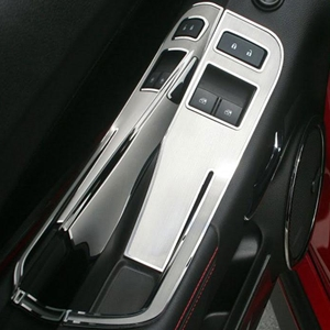 Camaro - Door Handle Pull / Switch Deluxe Trim Plate - Brushed with Polished Trim Ring - 2Pc Kit - USED