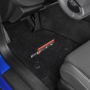2016+ Camaro Floor Mats 4 Pc. Set (Camaro Fifty Logo)