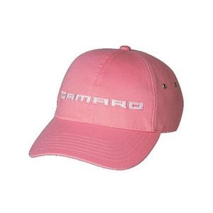 Chevy Camaro Script Pink w/ White Embroidery Hat