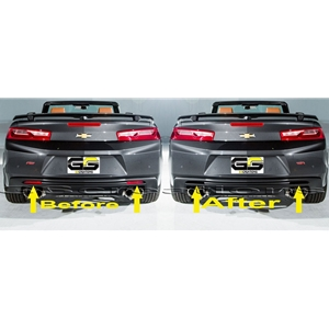 2016+ Camaro Rear Reflector Blackout Lens Cover Kit - Acrylic