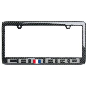 Camaro Fifty Carbon Fiber License Plate Frame -Badge Logo