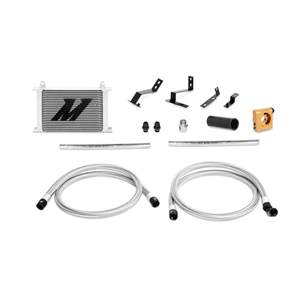 2016+ Camaro 2.0T Oil Cooler Kit: Silver Non-Thermostatic