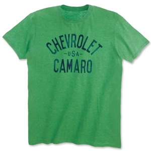 Chevrolet USA Camaro T-shirt - Heather Green