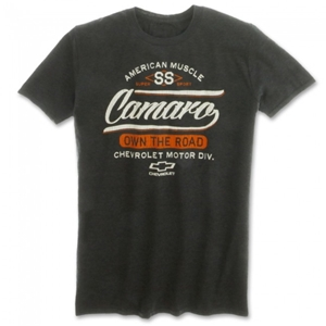 Camaro SS Own The Road T-shirt - Heather Dark Gray