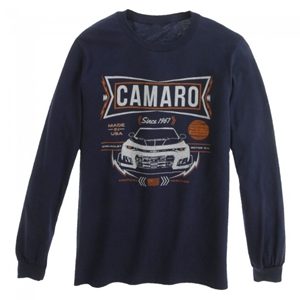 6th Gen Camaro American Heritage Long Sleeve T-shirt - Navy