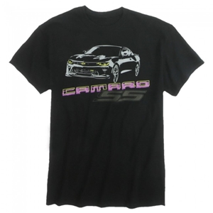 Midnight Camaro SS T-shirt - Black