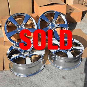 Camaro Chrome Reproduction Wheels-USED