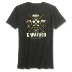 Camaro SS Muscle Machine Tee - Heather Dark Gray