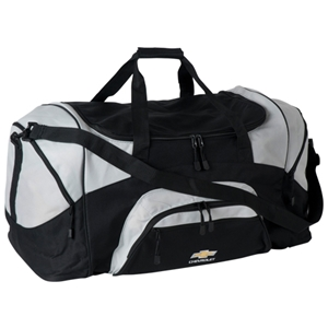 Chevy Sport Duffel Bag Silver & Black