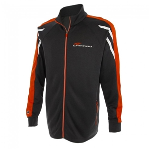 Camaro Competition Tri-Color Jacket - Black Heather/Orange/White