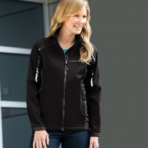 Camaro Ladies Metro Traveler Soft Shell Jacket - Black/Deep Grey