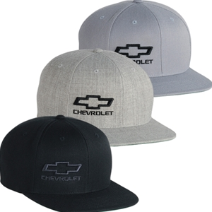 Chevrolet Bowtie Snap Back Flat Bill Cap