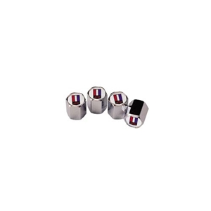 Camaro Logo Valve Stem Cap Set - CHROME