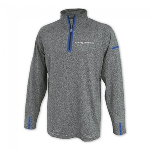 Camaro Laser Accent Quarter-Zip Fleece - Gray/Royal