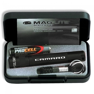 Camaro Mag-Lite Solitaire Flashlight - Black