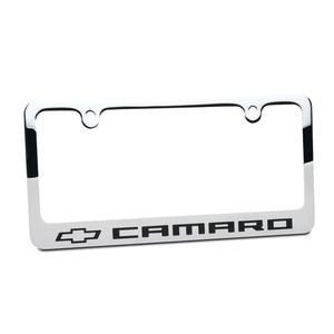Chevy Bowtie Camaro License Frame : Chrome