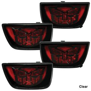 Camaro LED Taillights with Transformers Logo - Clear