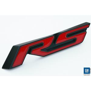 Camaro Trunk Emblem - Red RS with Black Outer 2010,2011,2012,2013,2014,2015