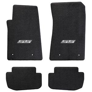 2010-2015 Camaro SS Floor Mats 4 Pc. Set (Silver Logo)