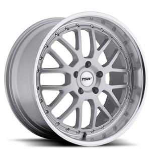 "2010-2012 Camaro ""Valencia"" Wheels (Set) : Silver with Mirror Cut Lip 20x8.5/20x10"