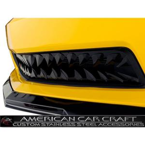2010-2013 Camaro Shark Tooth Lower Front Grille V6 - Black Stealth